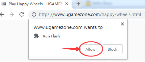 Step 2: Click 'Allow' Button To Run Flash